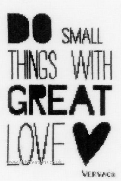 Do Small Things Cross Stitch Kit